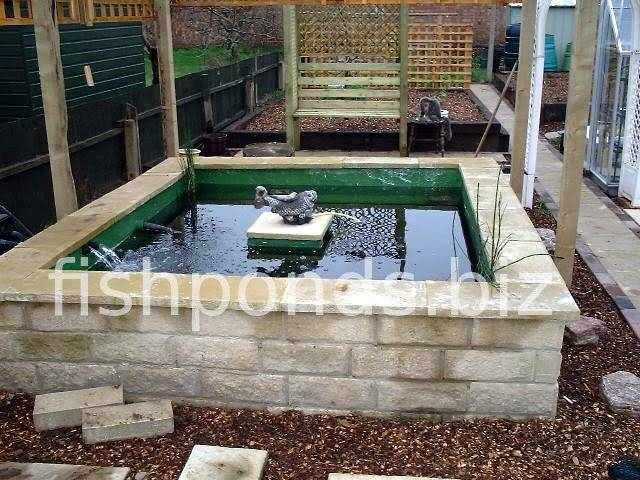 Building a concrete koi fish pond for Cinder block pond